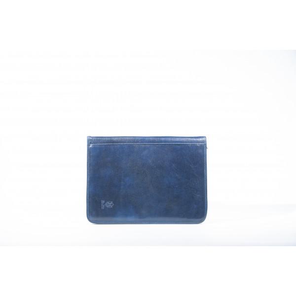 Сумка S0304.2 синий 33х25х1 (Натуральная кожа)