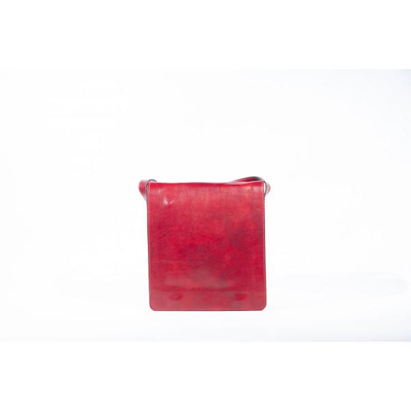 Сумка S0320.1 красный 25х28х5 (Натуральная кожа)